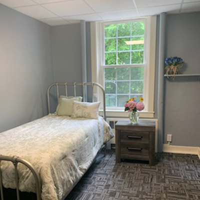 lovely bedroom - client bedroom - French Creek Recovery Center - residential program