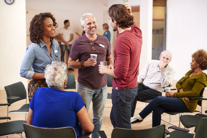 group at outpatient therapy or 12-Step group - continuum of care